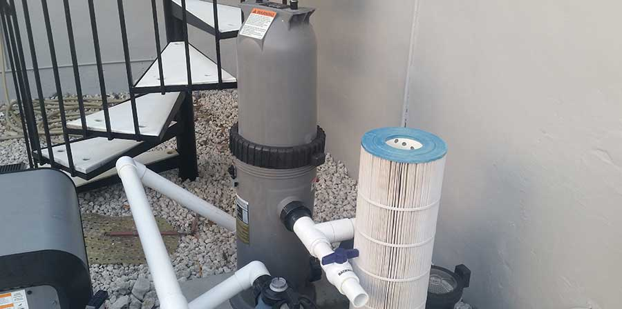 Jandy cartridge filter closed position  (swimming pool filter pressure)