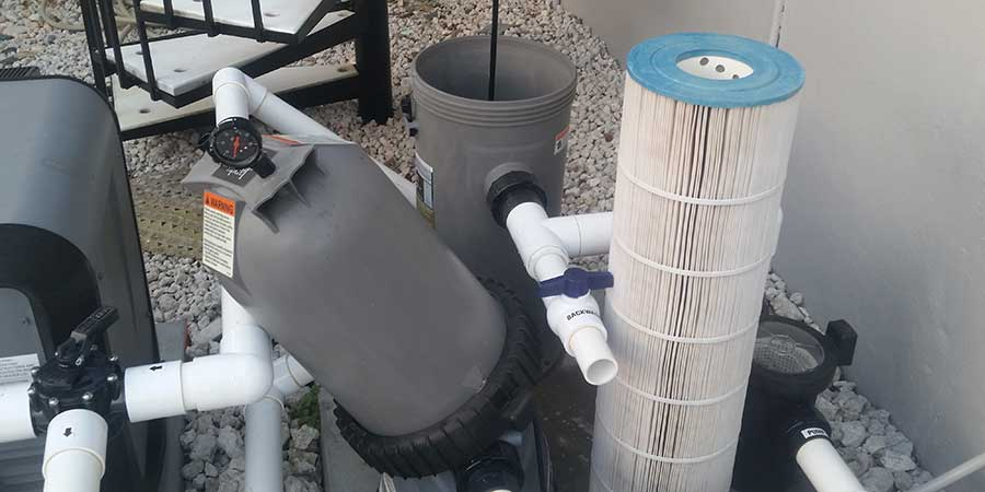 Jandy cartridge filter open position (swimming pool filter pressure)